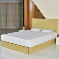 Queen Size 10 Inch Memory Foam Mattress Pad Bed Topper W/2 Contoured Pillows New