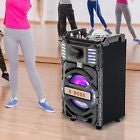 50WATT POWER  Portable Rechargeable Party DJ Speaker Bluetooth LED Disco Light USB/SD/FM