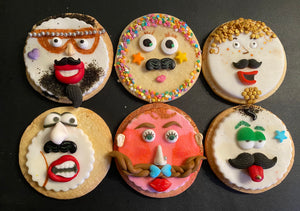 Mustache Cookie Kit - 6 Sugar Cookies - MOVEMBER SPECIAL