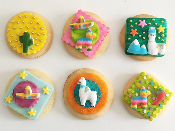 Piñata Party Cookie Kit - 6 Sugar Cookies