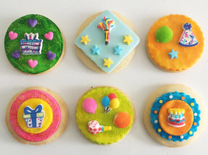Party Pizazz Cookie Kit - 6 Sugar Cookies