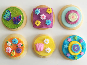 Floral Delights Cookie Kit - 6 Sugar Cookies