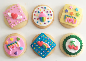 True Love's Kiss Cookie Kit - 6 Sugar Cookies