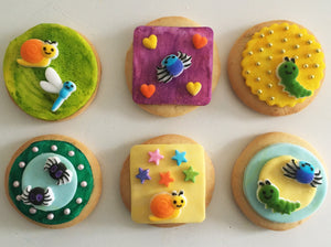 Cute as a Bug Cookie Kit - 6 Sugar Cookies
