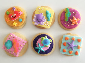 Under the Sea Cookie Kit - 6 Sugar Cookies