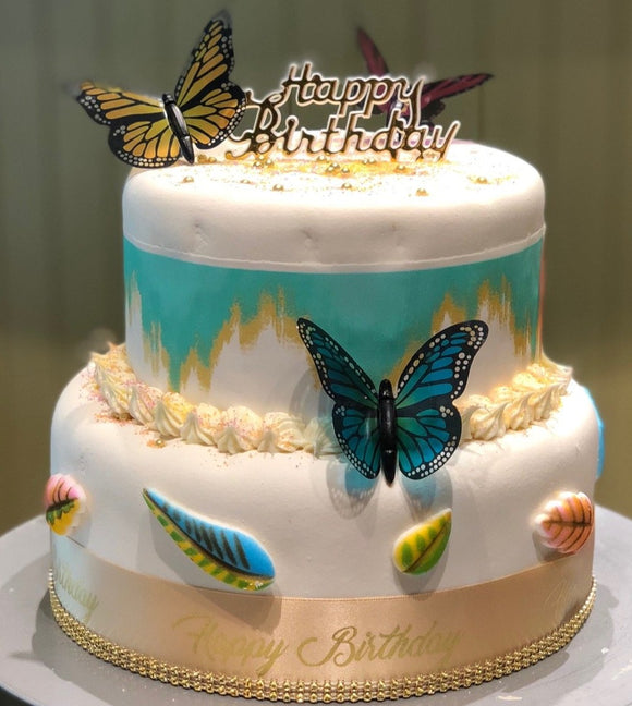 Butterflies and Leaves 2-Tier Cake Kit