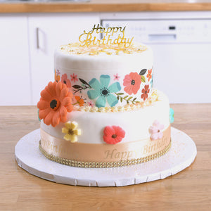Urban Floral Theme Cake Kit