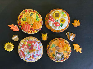Fall Cookie Kit - 6 Sugar Cookies - Metallic Paint!