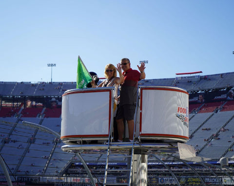 Pinty's Wingman Winner Waving Flag at Bristol Motor Speedway
