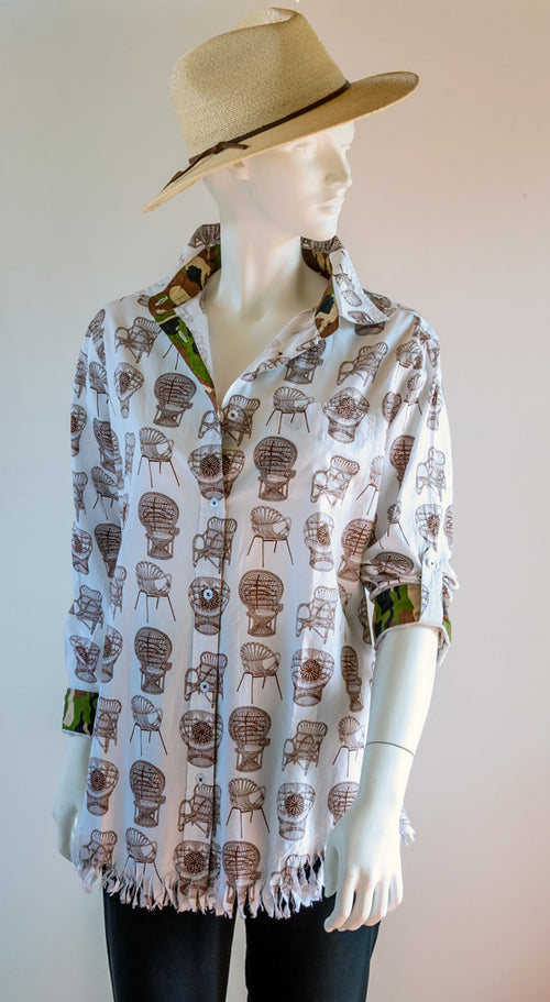 Dizzy Lizzy Sun Valley Wicker Chair Shirt