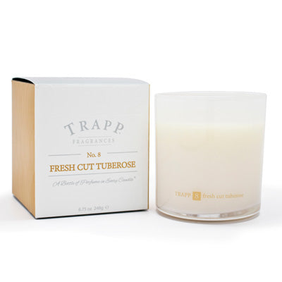 No. 8 Fresh Cut Tuberose Poured Candle