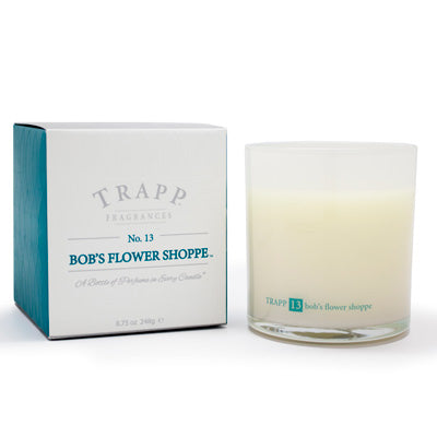 No. 13 Bob's Flower Shoppe Large Poured Candle