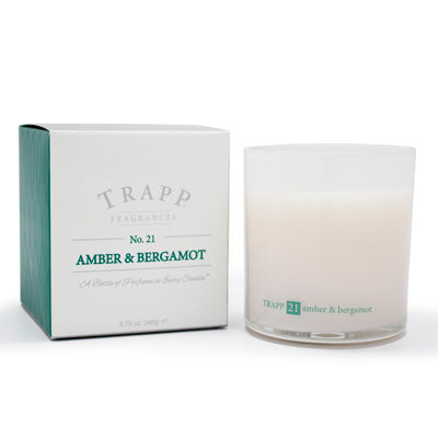 No. 21 Amber & Bergamot Poured Candle