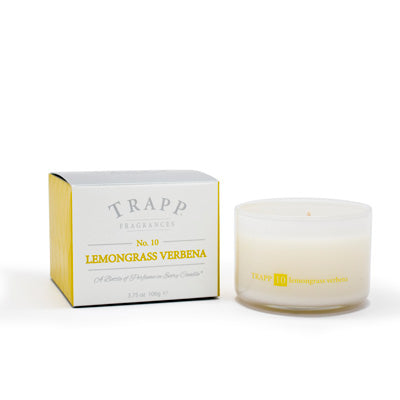 No. 10 Lemongrass Verbena Poured Candle