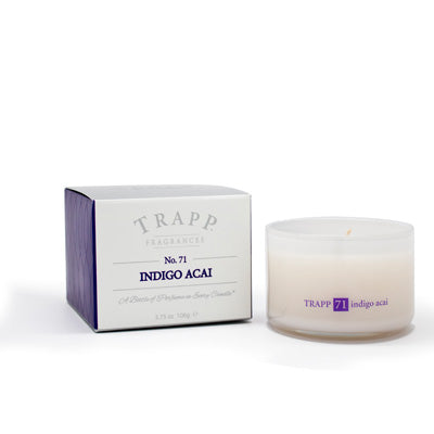No. 71 Indigo Acai Poured Candle