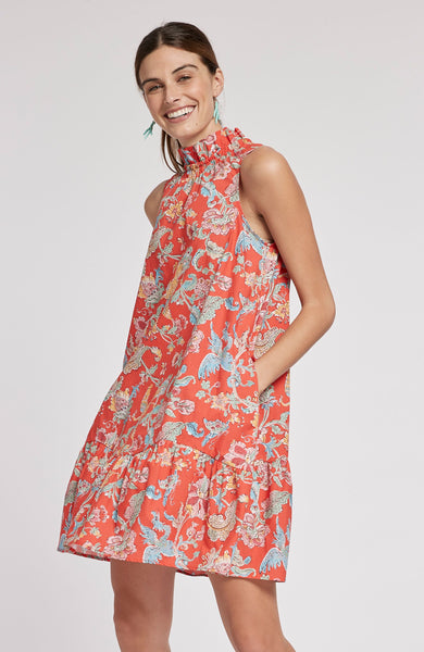 Poppy Chinoiserie Dress