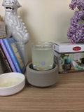 2-IN-1 Fragrance Warmer- Gray Texture