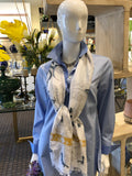 Hinson Wu Blouse with Frass Scarf