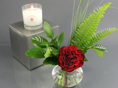Bud Vase with Trapp Candle