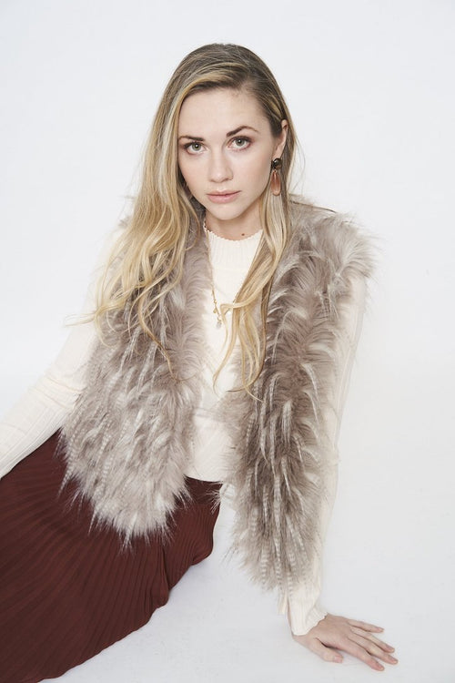 Furious Fur Spiky Feather Vest