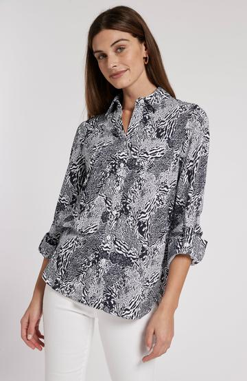 Tyler Boe Patty Animal Polo Blouse