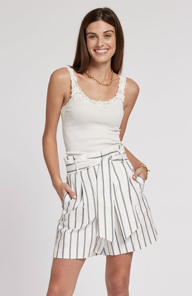 Tyler Boe Cotton Linen Striped Shorts