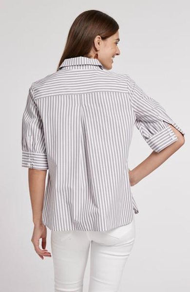 Tyler Boe Bonnie Cotton Striped Shirt