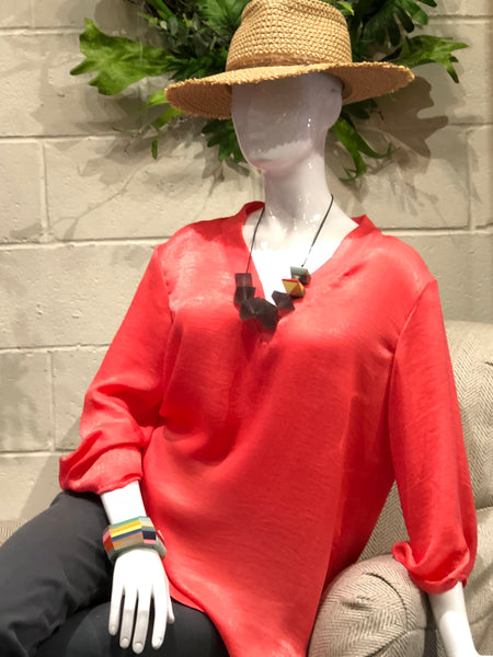 Eric Javits Hat with Mango Symphony Top