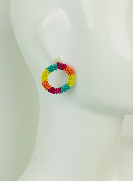 Treasured Jewels Beaded Earrings - Reef Hoop