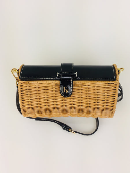 Betsy Wicker Basket Bag