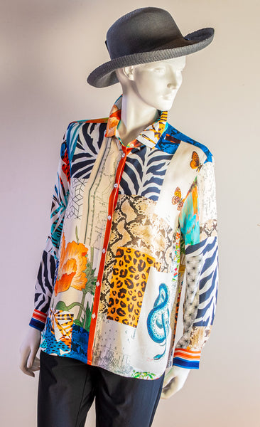 Vilagallo Dover Summer Collage Shirt