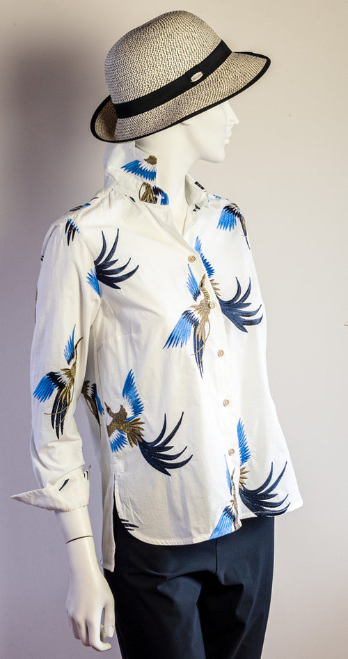 Vilagallo Dover Shirt Bird Embroidery