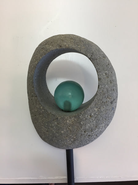 Moon Stone and Glass Cairn