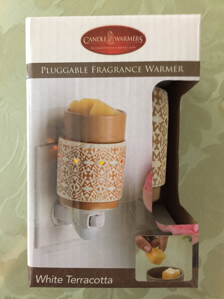 Pluggable Fragrance Warmer-White Terracotta