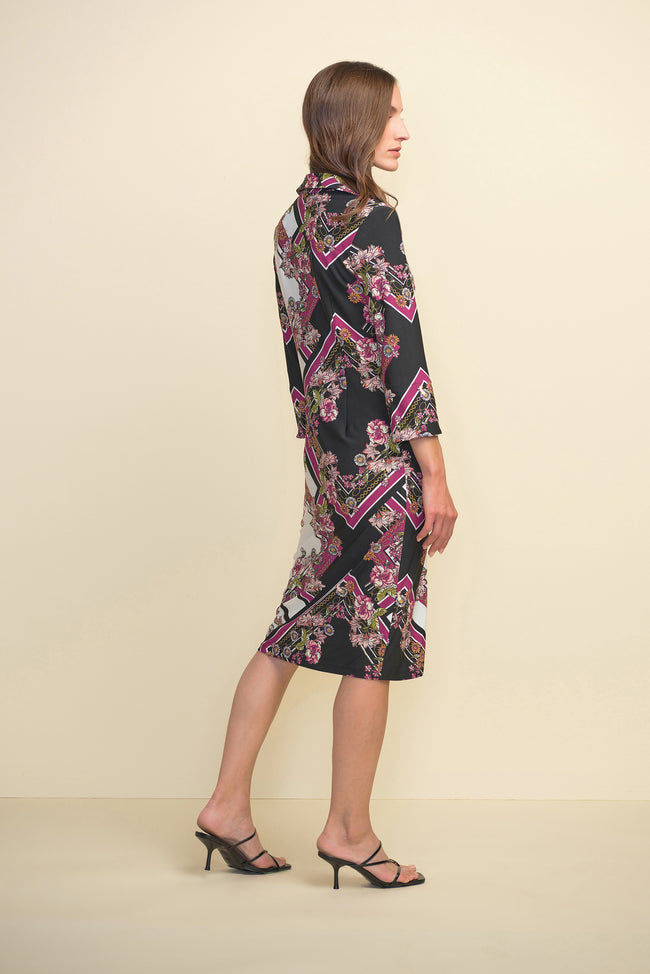 Printed Button Up Dress - 211024
