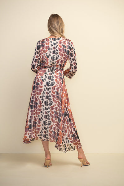 Animal Print Belted Dress - 211058