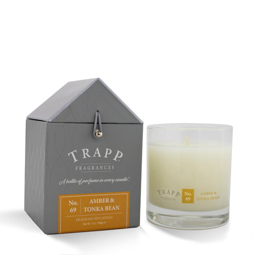 No. 69 Amber & Tonka Bean Large Poured Candle