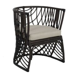 Gabby Asher Dining Chair in Black Rattan