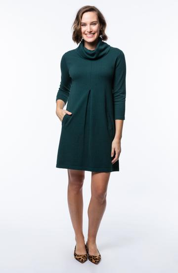 Tyler Boe Kim Cotton/Cashmere Dress Pine