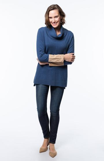 Tyler Boe Cotton/Cashmere Cowl Neck Tunic