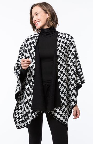 Tyler Boe Houndstooth Cotton/Cashmere Wrap