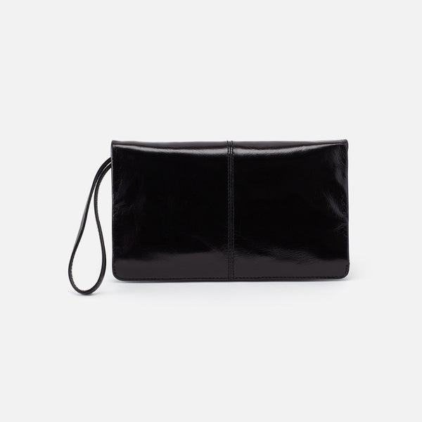 Hobo Evolve Black Leather Clutch