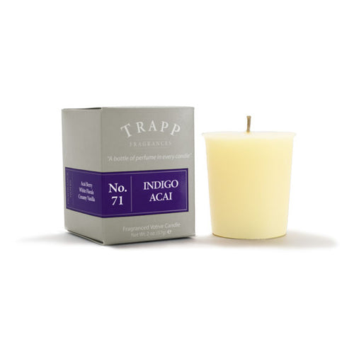 No. 71 Indigo Acai Votive Candle