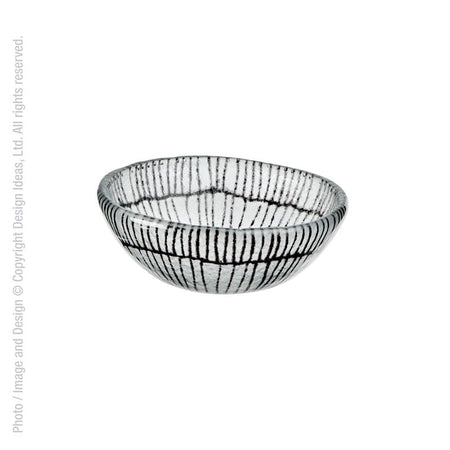 Design Ideas Glass Bowl Black Dots