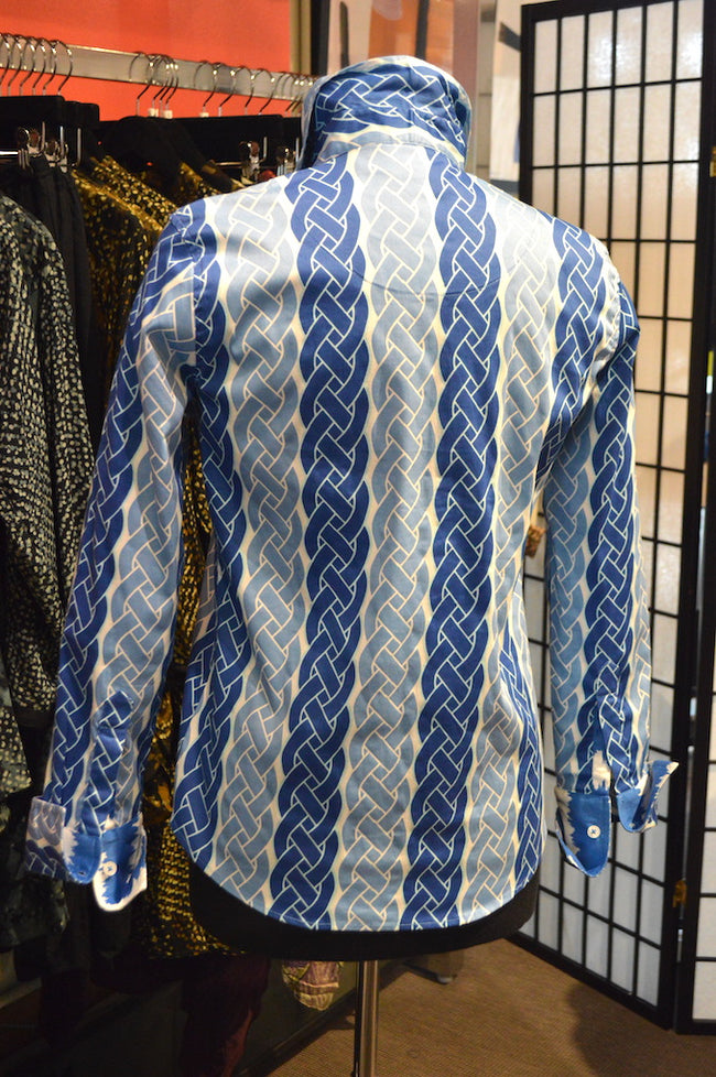 Dizzy Lizzy Blue & White Blouse
