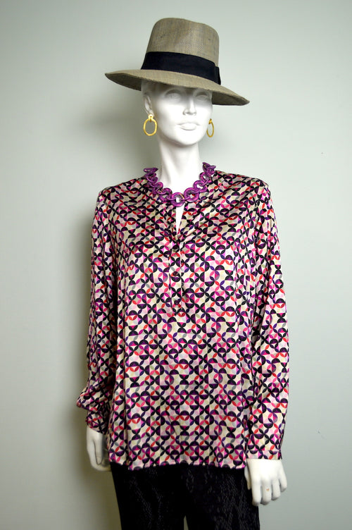 Multi-color Silk Blouse
