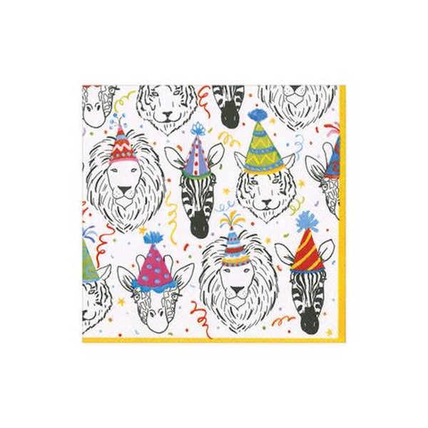 Caspari Safari Birthday Cocktail Napkins