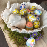 Bunnies in a Bowl and Ceramic Eggs