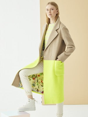 Vilagallo Elora Yellow Fluor Coat