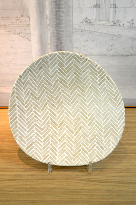 Herringbone Ceramic Planter Small
